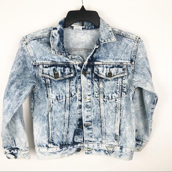 d2eb36596b1 Guess Other - Vintage Guess Acid Wash denim jacket girls size 12